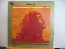 CARLOS SANTANA & BUDDY MILES Live! COLUMBIA SQ QUAD VINYL LP Free UK Post