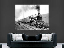 FLYING SCOTSMAN STEAM TRAIN   ART HUGE LARGE WALL  POSTER  PRINT