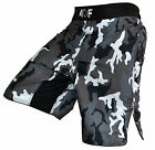 AQF MMA Fight Shorts Grappling Short Kick Boxing Cage Fighting Shorts Camo Grey
