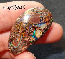 +++ GEM Koroit Boulder Opal - wunderschöner großer Matrix Opal Cabochon ! VIDEO