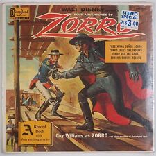 ZORRO: Four Adventures SEALED USA Walt Disney '58 Soundtrack Vinyl LP