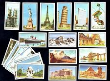 World Marvels Wrights 24 Card Set 1954 Statue Liberty Pisa Eiffel Everest Egypt