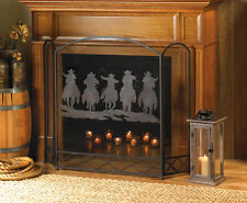 Western Fireplace Screen Divider Texas Style Fire Place - New