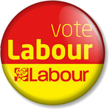 "Vote Labour 25mm 1"" Pin Button Badge General Election Political Party Support"