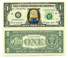 MINION - VRAI BILLET 1 DOLLAR US ! Collection Personnage Moi Moche & Méchant Gru
