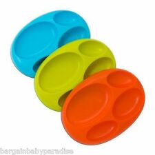 Boon Platter Edgeless Nonskid Divided Baby Plates - Set of 4