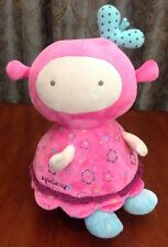 Agabang Baby Chime Ball Doll Roly Poly Plush Rollie Pollie Toy Pink Girl