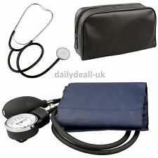 Aneroid Nylon Cuff Sphygmomanometer And Stethoscope Blood Pressure Monitor Meter