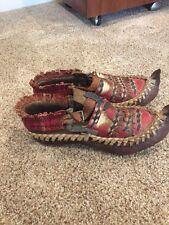 ANTIQUE Turkish Native Nepal woven leather shoes Primative for display??