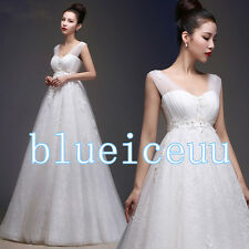 NEW Elegant Empire lace Maternity Wedding Dress&Bridal ​gowns custom