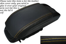 YELLOW STITCH LEATHER ARMREST SKIN COVER FITS VAUXHALL OPEL ZAFIRA C 2012-2014