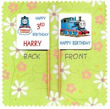 20 PERSONALISED THOMAS THE TANK ENGINE CUP CAKE FLAG Party Pick Topper Birthday