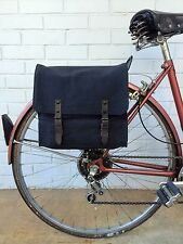 Vintage Black Military Surplus Style Messenger Bag Bicycle Pannier