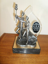 1996 Michael Ricker Pewter Statue. 100th -Anniversary USA Olympics 1896-1996