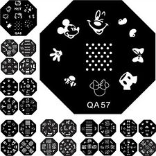 60 PCs Mickey Mouse Hello Kitty Flower Nail Art Stampers Stamping Plate Stencils