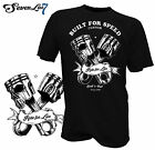 T-Shirt Hot Rod Tattoo Biker Totenkopf Rockabilly Skull Rocker Yakuzza USA V8