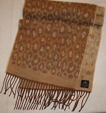 V Fraas Scarf Soft Brown Animal Print Germany Long Leopard Cheetah