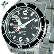 New SEIKO SPORTURA KINETIC DIRECT DRIVE With STAINLESS STEEL BRACELET SRG019P1