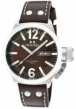 TW Steel CE1009 Men's CEO Canteen Brown Dial Brown Leather Strap Day Date Watch