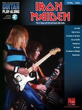 Play-Along IRON MAIDEN Play Run to the Hills HEAVY ROCK GUITAR Book/Online Audio