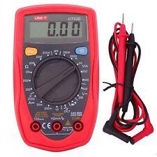 UNI-T UT33D Palm Size Digital Multimeter Handheld Volt Ohm AC/DC Meter Tester