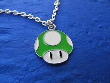 MARIO MUSHROOM  pendant necklace on link chain FREE SHIPPING