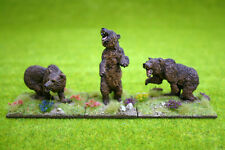 DeeZee Miniatures SET OF THREE CAVE BEARS 28mm Wargames
