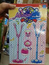 asta 2 microfon karaoke solo rosa Kit gioco di qualità giocattolo toy a75 natale