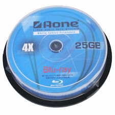 20 x AONE BLURAY BLU-RAY FULL FACE PRINTABLE BLANK DISCS 25GB 4x BD-R