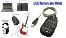 USB Guitar Link Cable Adapter for PC / MAC Recording