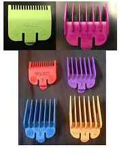 WAHL COLOURED CLIPPER ATTACHMENT COMBS SET 1,2,3,4 + 0.5 & 1.5 IN COLOUR *NEW*