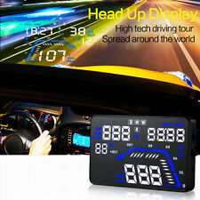 "Q7 5.5"" Car HUD Head Up Display GPS Speed Warning System Fuel Consumption New"