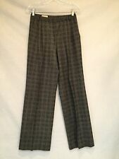 MONDI Tweed Straight Leg Pleated Dress Pant-Black/White-Size 36
