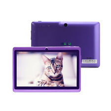 "New 8GB iRulu 7"" Android 4.4 Kitkat Tablet PC Quad Core Dual Camera Purple"