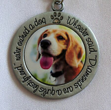 BEAGLE Keychain Whoever Said Diamonds Are Girl's Best Friend Never Owned A Dog
