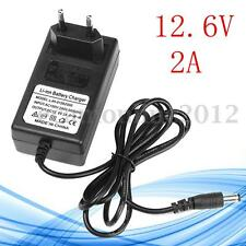 DC 12.6V Caricabatteria Lithium Charger Adapter per Li-ion LiPo Battery EU Plug