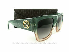 New Gucci Sunglasses GG 3817/S Glitter Green Pink RMQN6 Authentic