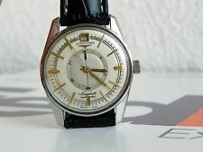 Vintage longines Power reserve automatic watch, Date, Cal 294 35mm S/S case.