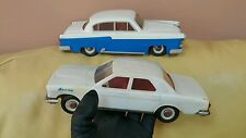 VINTAGE VOLGA GAZ 1967 BATTERY OPERATED TOY CAR USSR SOVIET RUSSIA CCCP ERA RARE
