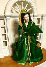 GONE WITH THE WIND, FRANKLIN HEIRLOOM PORCELAIN DOLL, SCARLETT O'HARA, VERY RARE