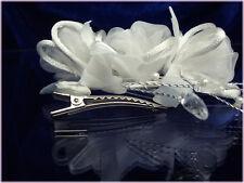 2 pinces cheveux fleur perle coiffure chignon accessoire mariage diadème