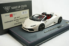 1/18 MAKE UP LAMBORGHINI HURACAN SPYDER PEARL WHITE COLOR N BBR MR