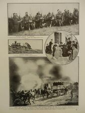 1914 RUSSIAN TROOPS AT PRAYER ON BATTLEFIELD, FIRE AND SWORD IN GALICIA WWI WW1