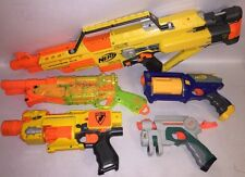 Lot Of 5 Nerf Stampede, Barricade, Barrel Break 1X-2, Maverick, Nitefinder