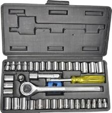 "AIWA 40 pcs Multi purpose Combination Socket Wrench Set with 1/4"" Ratchet Handle"