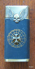ELECTRONIC BUTANE JET TURBO WINDPROOF LIGHTER SKULLS MALTESE CROSS SPIDER WEB