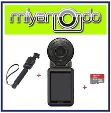 Casio Exilim FR100 + Sandisk Ultra microSD 32GB + EAM-4 Monopod (Black)