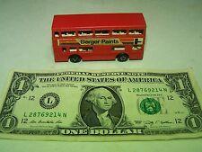 Matchbox - Vintage Red Berger Paints #17 The Londoner Bus Double Decker - 1981