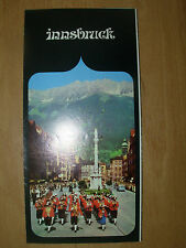 VINTAGE TOURIST BROCHURE INNSBRUCK AUSTRIA 1960's WITH MAP