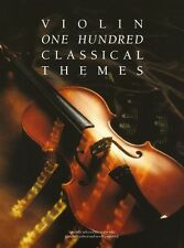 100 Classical Themes For Violin Learn to Play Mozart Chopin Debussy Music Book